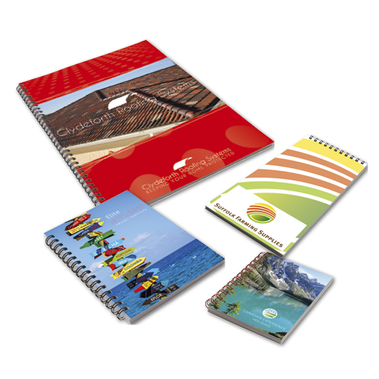 Card Covered Wiro Notebooks