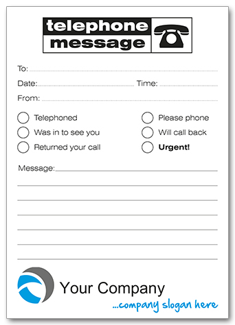 Template 10 with Telephone message