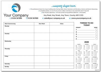 Template 18 with Calendar and Notes