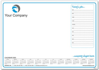 Template 1 with Calendar and Todays Jobs