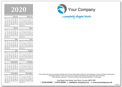Template 4 with Calendar