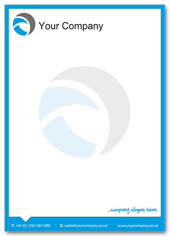 Template 9 with Watermark logo